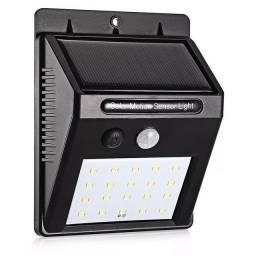Luminária De Parede Energia Solar Com Sensor De Movimento Presença 20 Leds