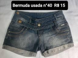 Bermudas usadas diversas $15 cada