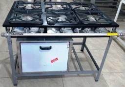 Fogão industrial baixa pressão - Metalmaq