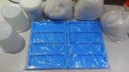 Kit para a fabricação Tijolinho Rusticos (Modelo Brick) Gesso 3d