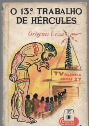 olx0124 livro usado o 13º trabalho de hércules - origenes lessa