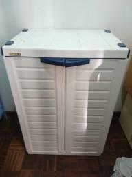 Armário Plástico Baixo Branco 65x90x45cm