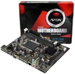 Placa Mãe Afox Lga 1155 - Intel IH61-MA5 para 2 e 3 geração- NOVO