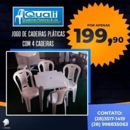 jogo de mesa Plástica com cadeira Ipanema
