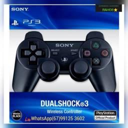 ?Controle Sem Fio PS3 DualShock 3 Preto
