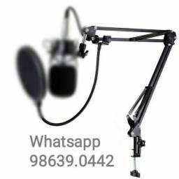 Suporte Braço Articulado Pedestal de Microfone (Novo, aceito cartão)