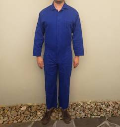 Macacão mecânico brim azul