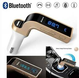 Transmissor Fm Veicular Bluetooth Usb/sd/mp3 Com Lcd