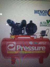Compressor de ar semi-novo 120 litros ( Pressure )