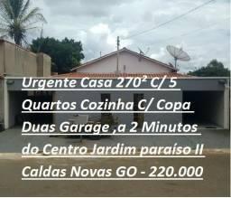 Casa 270² C/ 5 Quartos Cozinha C/ Copa a 2 Minutos do Centro Jardim paraíso II Caldas Nova