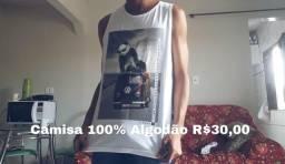 Camisa 100% Algodão (P)