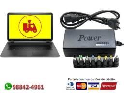 Carregador / Fonte Universal de 12v a 24v com 9 plugs