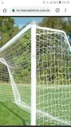 Rede de futebol de campo