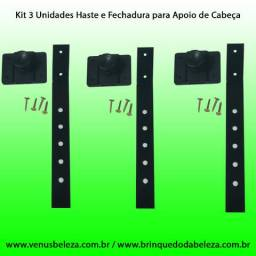 Kit 3 Unidades Haste e Fechadura para Cadeiras Cabeleireiro