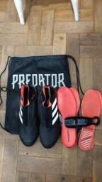 Chuteira Adidas Predator 18+ Campo N°42 (Sem cadarços) 34f8e1c608ad0