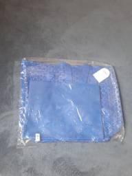 Bolsa De Praia Renda Transparente Azul