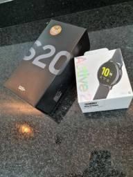 S20 Plus e Relógio active 2 Garantia Novinhos
