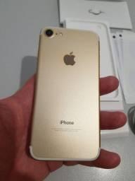 iPhone 7 32gb Gold novinho aceito troca por celular inferior e volta em dinheiro
