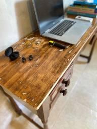 Escrivaninha antiga - madeira de lei - customizada