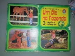 Quebra Cabeças Um Dia Na Fazenda Estrela Anos 70 Colecionador