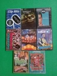 8 Dvd's originais (Videoclipes musicais)