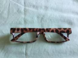Armação de oculos tigrado rosado