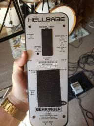 Pedal wah wah behringer + fonte para 5 pedais com extensor + cabos