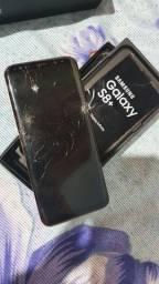 S8+ Plus trincado funcionando.