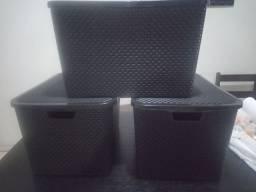 03 caixas organizadoras 40 litros r$100,00