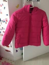 Jaqueta Puffer infantil - tam.8-9 - rosa pink