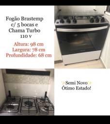 Fogão Brastemp Active 5 Bocas 110w Semi Novo