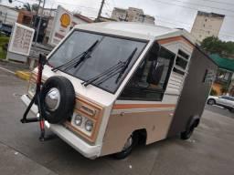 Vw micro ônibus Invel Original Raríssimo food truck trailer motor home troco parcelo