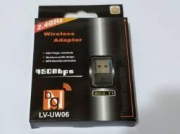 Adaptador Wireless Wifi Nano Usb 150 Mbps p/note e desk, sem Fio, sem antena ? novo