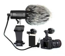 Microfone Direcional Para Câmeras e Smartphones