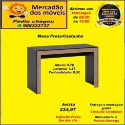 Mesa Preta/Castanho em até 10x nos cartões. (Entrega grátis)