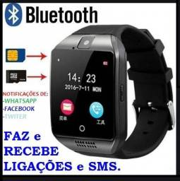 Relógio Smart Digital - Chip / Câmera / micro sd / ligações, SMS, notificações / Entrega