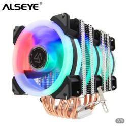 Coller Triplo Alseye RD90 6 tubos de calor com RGB 4 pinos CPU