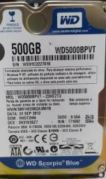 HD Scorpio Blue 500GB Western Digital p/ notebook