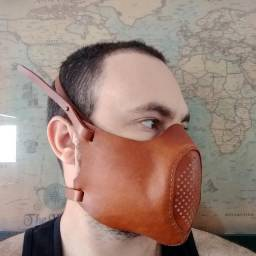 Máscara Atalaia de Couro Genuíno - Proteção contra o Coronavírus