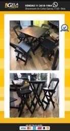Título do anúncio: Conjunto mesa 70x70 com 4 Cadeiras