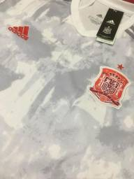 Título do anúncio: Camisa Espanha branca 20/21