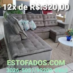 Sofá Canto Sttilo por apenas (12x de R$:320,00)