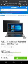 NOTEBOOK INTEL CORE I3 4GB