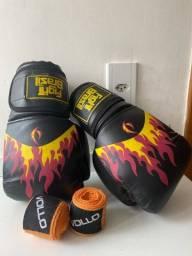 Luva de boxe da Fight Brasil + bandagem
