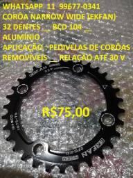 Corôa narrow wide _ 32 / 34 dentes _ bcd 104 _ novas _ ekfan