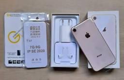 """iPhone 8 """"GOLD"""" ZERADO! Com todos os acessórios + brindes."""