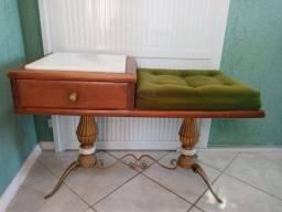 Mesa madeira de lei com mármore