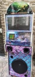 !!!PROMOÇÃO!!!<br>MusicBox Karaokê Jukebox Máquina de Músicas 2x1 Bluetooth