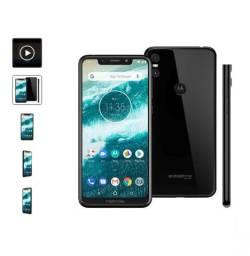 "Smartphone Motorola One XT1941 Preto 64GB Tela de 5,9"""