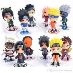 Kit 6 pçs/ Personagens Naruto Sakura/Kakashi